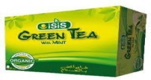 Isis Green tea with peppe
