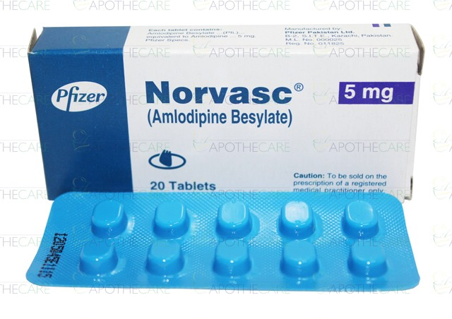 Norvasc 5mg Tablets - Rosheta